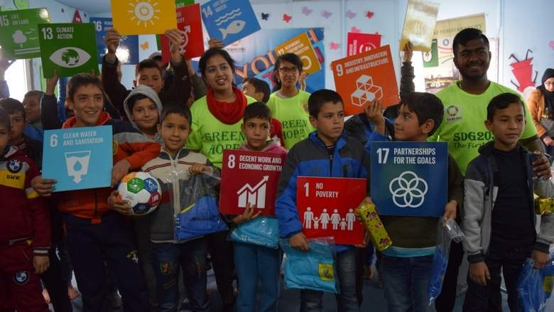 Giving green hope to Syrian refugee kids