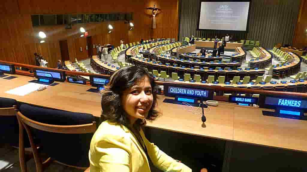 A Dubai teenager featured prominently at the United Nations headquarters